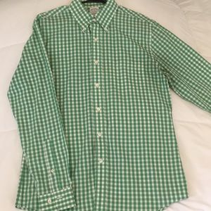Men's Green Gingham Brooks Brothers Button Down